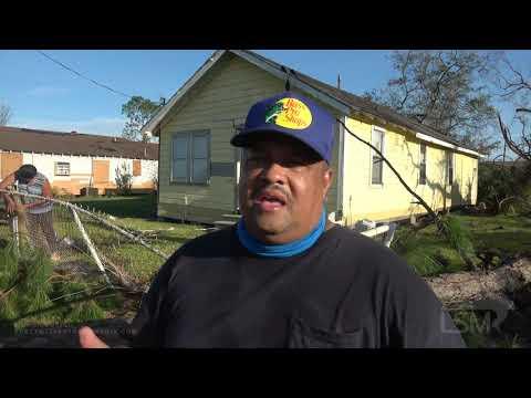 08-27-20 Lake Charles, LA Hurricane Laura Survivor Interview Damage In Town