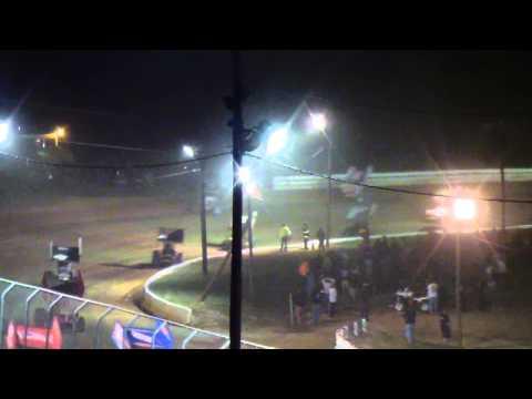 Port Royal Speedway All Star Sprint Car Highlights 9-07-13