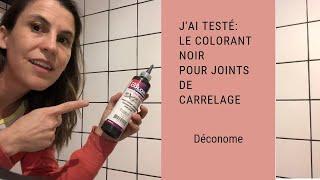 J'ai testé dans ma douche: le colorant noir pour joints de carrelage