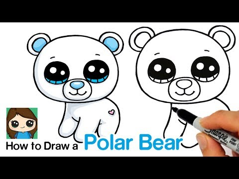 How To Draw A Polar Bear Easy   Beanie Boos