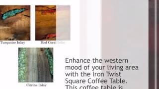 Iron Twist Square Coffee Table - Lonestarwesterndecor.com