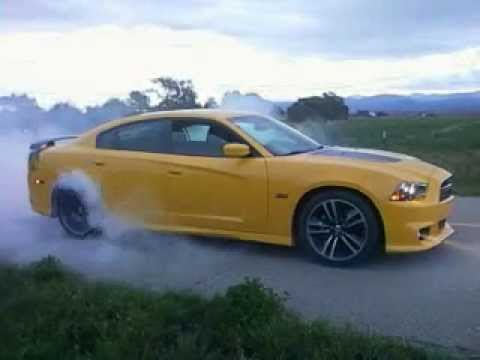 2012 dodge charger super bee 392 small burnout  YouTube