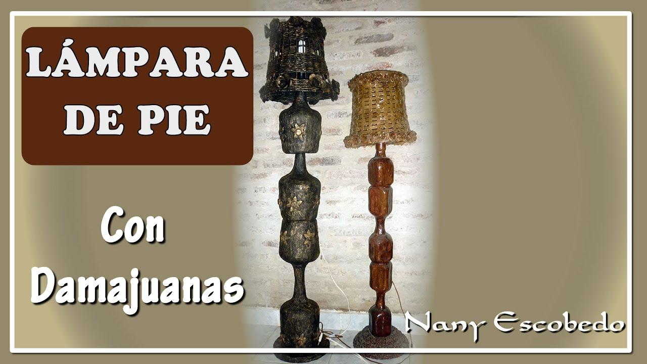 Como hacer una lampara de pie beautiful como hacer una - Como hacer una lampara de pie artesanal ...