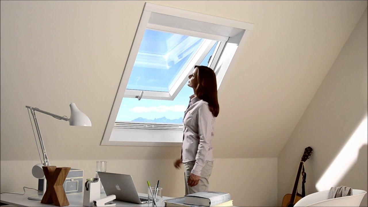 neher fliegengitter f r dachfenster youtube. Black Bedroom Furniture Sets. Home Design Ideas
