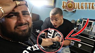 Tattoo roulette challenge!! (extreme truth or dare)