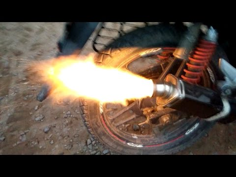 how to make fire shot in bike