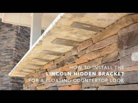 HOW-TO: Install the Lincoln Top Plate Hidden Bracket for a FLOATING COUNTERTOP look