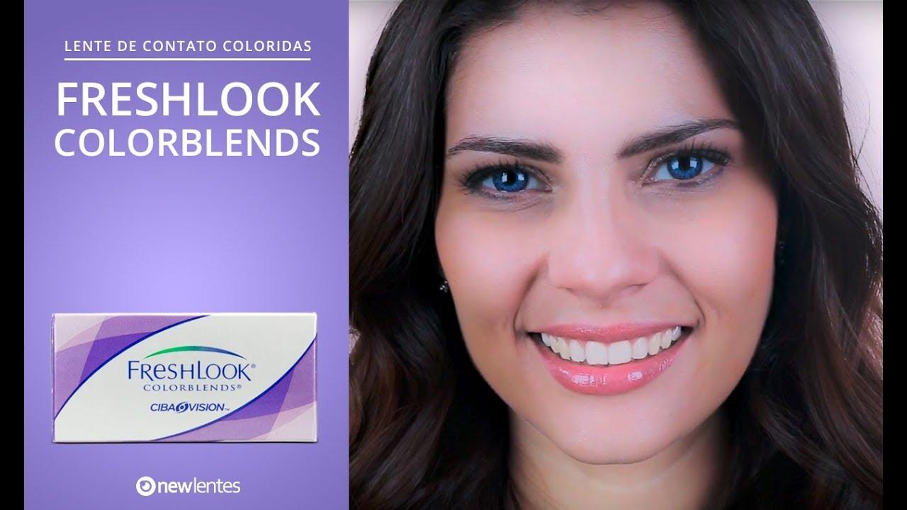 68d21205b8b93 Lentes de contato coloridas FRESHLOOK COLORBLENDS   newlentes - YouTube