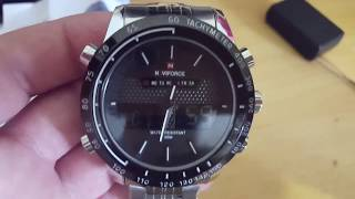 NAVIFORCE NF9024 Men Quartz Digital Watch