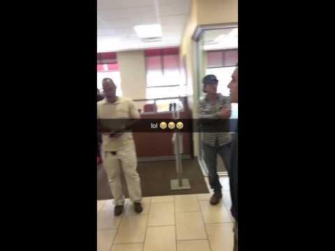 Fight in Wells Fargo lol!