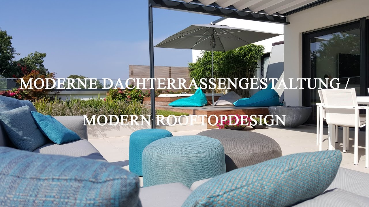 gestaltung einer exklusiven dachterrasse youtube. Black Bedroom Furniture Sets. Home Design Ideas