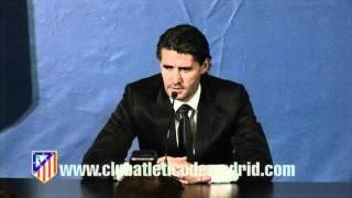 Presentacion de Caminero y Aguilera como directivos del Atletico de Madrid