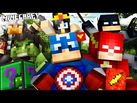 Minecraft SUPERHERO Lucky Block Mod BATTLE on Stark Tower -