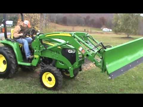 2013 John Deere 3520 Compact Tractor Loader 300CX 3 Point Hitch 540 PTO  Hydro With Snow Plow
