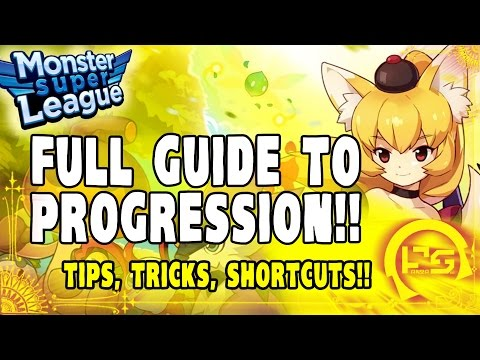 MONSTER SUPER LEAGUE GUIDE!! THE FULL LINEAR GUIDE TO PROGRESSION!! TIPS, TRICKS, & SHORTCUTS!!♕