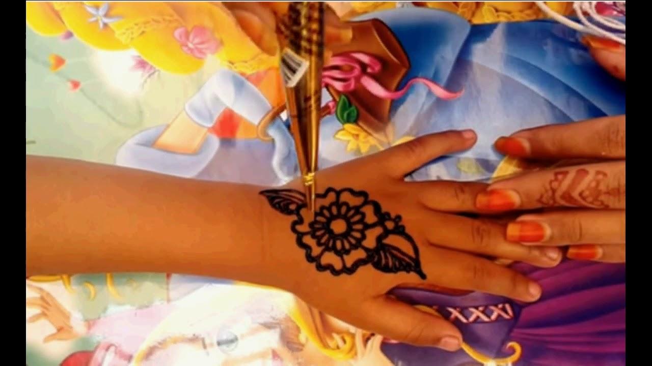 Cara Menggambar Henna Untuk Pemula Youtube