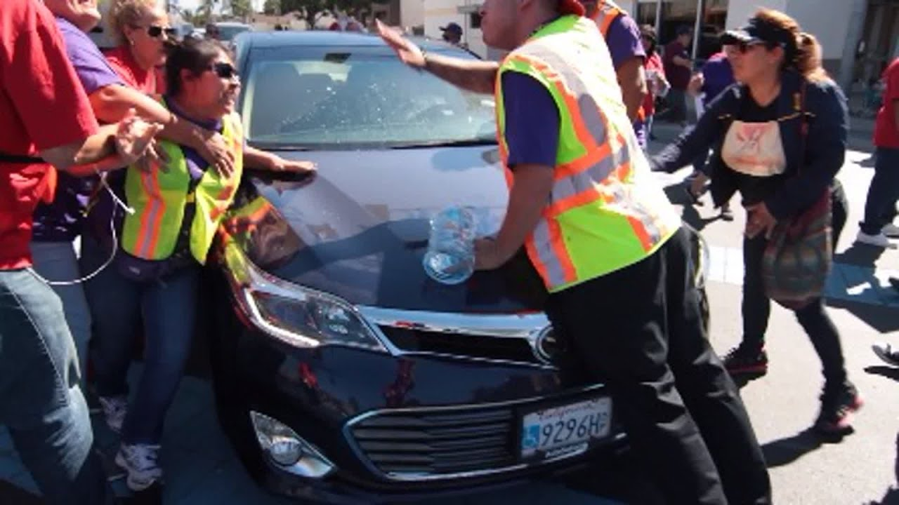 Man Drives Car Into Crowd Video