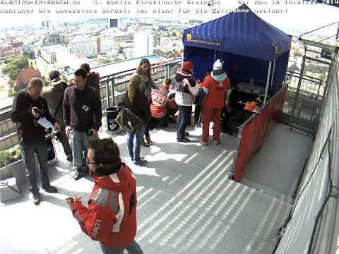 4. Berliner Firefighter Stairrun 2014 Webcam Ziel ab 13:10 Uhr