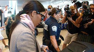 Kim Kardashian Causes Paparazzi Chaos At LAX  [2014]