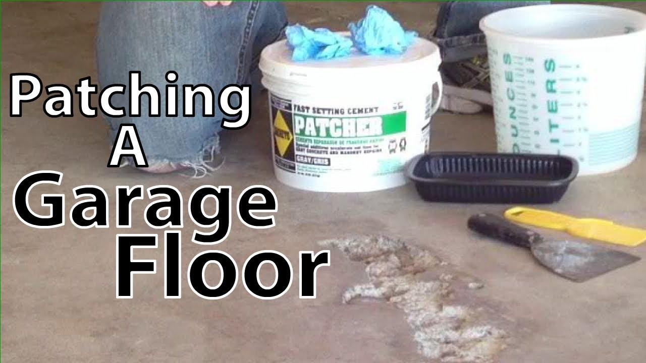 Patching Cement Garage Floor  YouTube