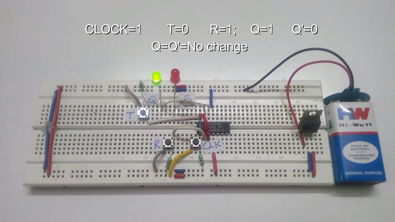 t flip flop circuit truth table working [ 1280 x 720 Pixel ]