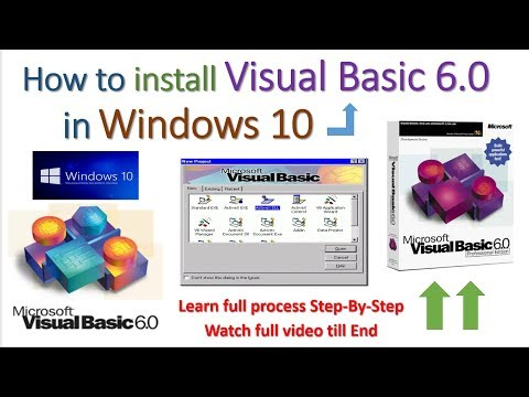Cara Instal Visual Basic 6.0 Windows 10
