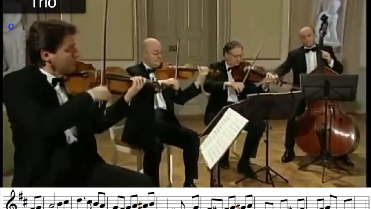 Minuet and Trio Form Eine Kleine Nachtmusik - YouTube