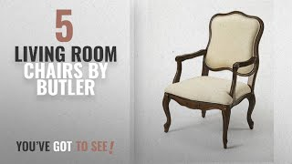 Top 10 Butler Living Room Chairs [2018]: Clea Plantation Cherry Accent Chair