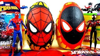 Gigante Uomo Ragno(Spider-Man and Miles Morales)Giant Play Doh Surprise Egg Toy