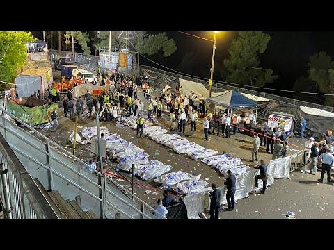 سقوط 44 قتيلاً على الأقلّ وعشرات الجرحى في تدافع ضخم خلال حجّ يهودي بإسرائيل