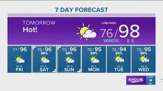 Houston Forecast: Extremely hot weather for the next several days