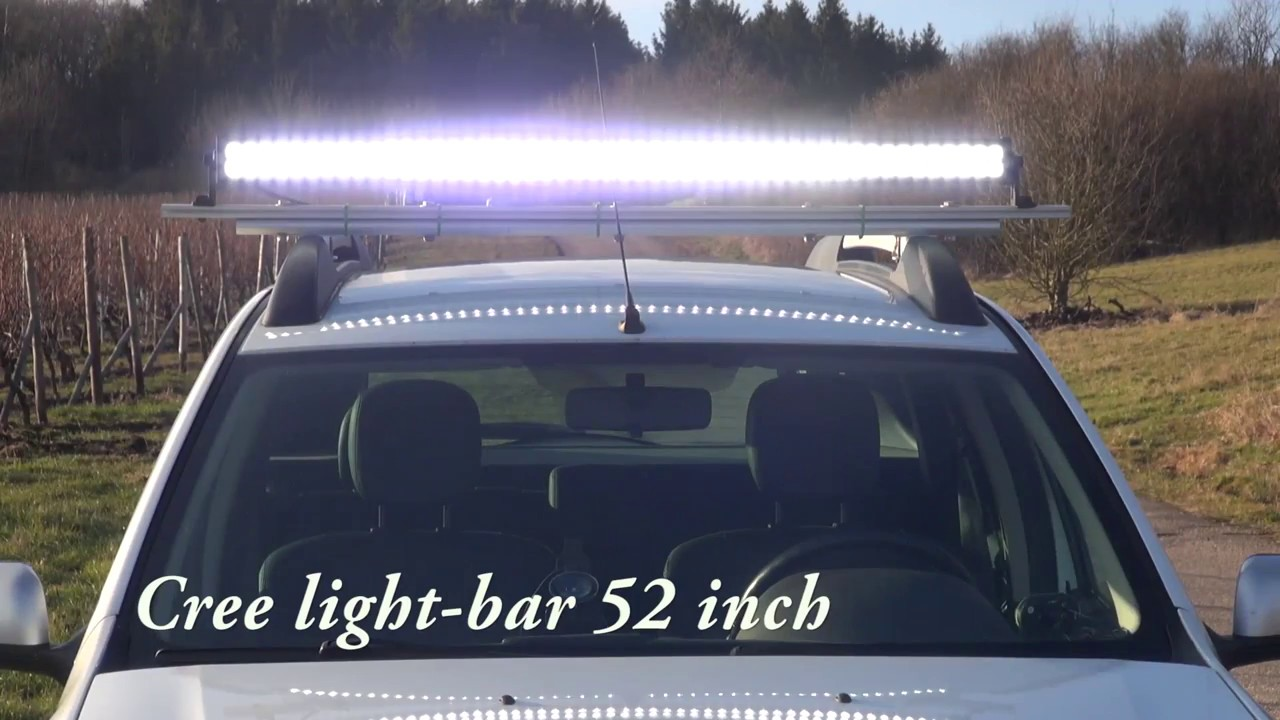 4wd Light Bars Dacia duster 4wd cree 52 inch led light bar lightbar 52 youtube dacia duster 4wd cree 52 inch led light bar lightbar 52 audiocablefo
