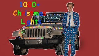 I decorated my Jeep Wrangler with 1000+ Christmas lights