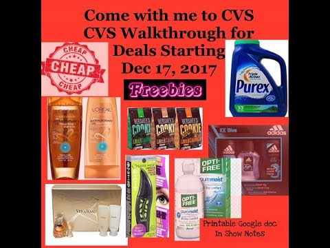 Come with me CVS walk through Coupon Match ups this Sunday's Deals 12/17/17.  With google doc
