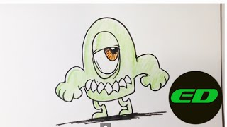 How to Draw a Lil Monster - Easy Drawings