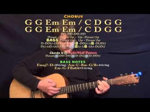 Something I Need (One Republic) Guitar Lesson Chord Chart - G Em C D