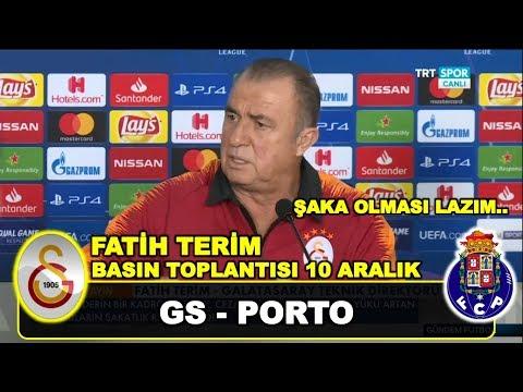 Galatasaray Porto   Fatih Terim Basın Toplantısı, Galatasaray Mariano, 10 Aralık 2018