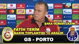 Galatasaray Porto | Fatih Terim Basın Toplantısı, Galatasaray Mariano, 10 Aralık 2018