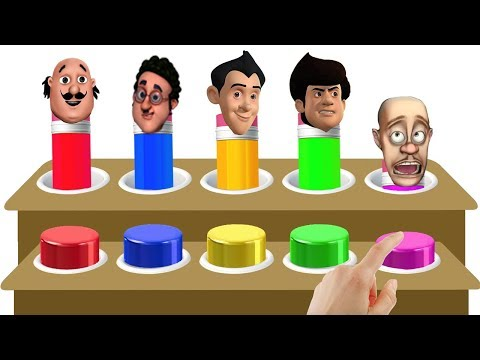 Colors Learn with Motu Patlu Bablu Dablu Gattu Battu Pencil Finger Family Song