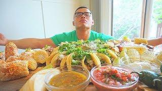 MEXICAN FEAST   Mexican Food   MUKBANG   QT