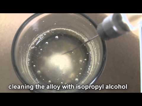 Sodium potassium Alloy, in a SYRINGE!