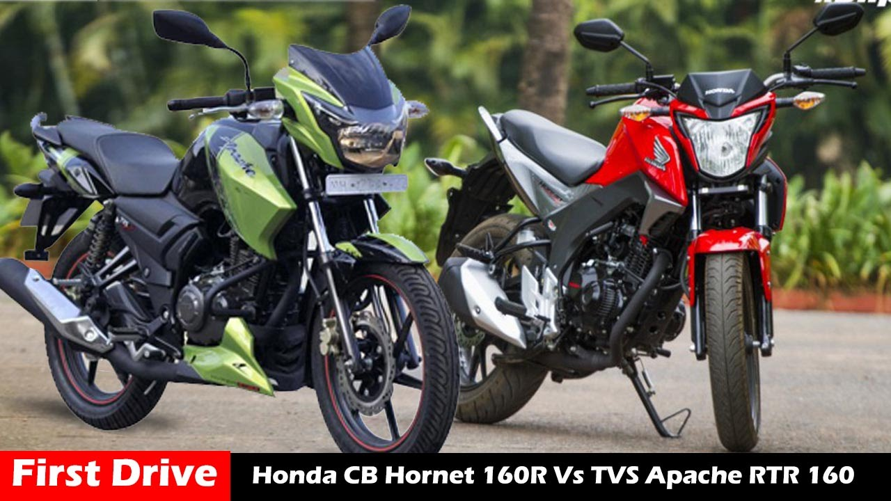 Honda Cb Hornet 160r Vs Tvs Apache Rtr 160 Comparison Review