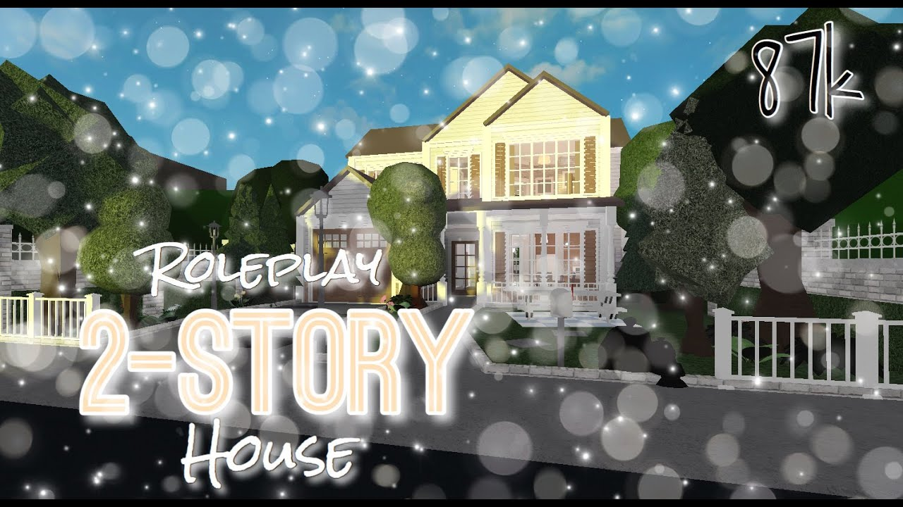 Roblox Bloxburg Roleplay Two Story House Mobile Speed Build