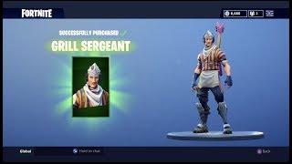 Fortnite Grill Sergent Skin