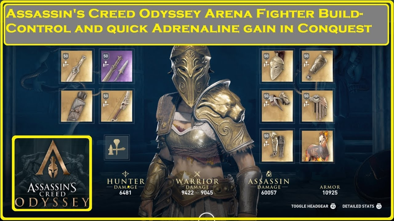Assassin S Creed Odyssey Arena Fighter Build Youtube