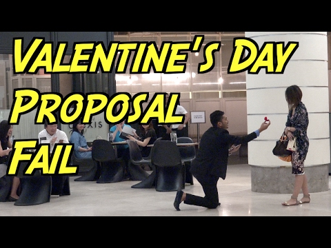 Valentine's Day Proposal Gone Wrong in Public