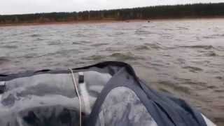Надувная лодка Agent 385 от X-River /Санкт-Петербург с мотором Yamaha 2 л.с.(Когда выбирал лодку, мотор уже был. Как сочетается такая лодка и такой мотор на ютубе не нашел. Но покупать..., 2014-12-28T22:21:05.000Z)
