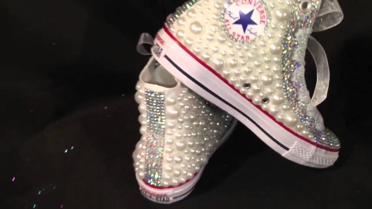 afa4608324dbc4 Prom Bling out Converse - YouTube