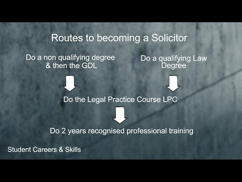 Routes to becoming a Solicitor (Routes into Law)