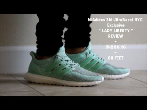 adidas Ultra Boost 2.0 Limited Lady Liberty NYC Men Running